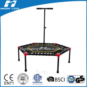 "55"" Hexigonal Mini Trampoline with Elastic Rope Instead of Spring"