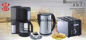Electric 3 in 1 Breakfast Set, Coffee Maker-Toaster-Kettle