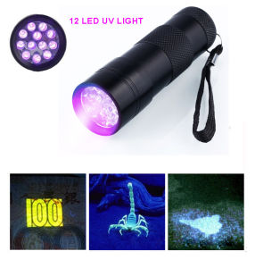 12LED UV Flashlight UV Money Detector Light Black Light Grasp Scorpion Light