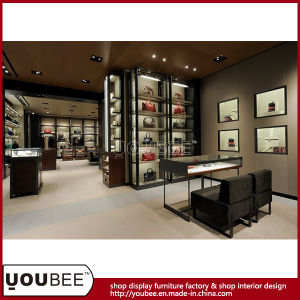 Custom Retail Display Furniture Handbag Showroom Cabinet Showcase