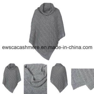 Lady′s Cable High Neck Collar Pure Cashmere Knitwear