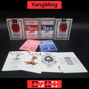 United States Bee Dedicated Casino Poker Playing Card for Casino Gambling Games with Red and Blue Color (YM-PC01) pictures & photos