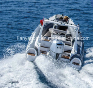 Liya 19FT Commercial Hypalon Inflatable Rigid Tender Boat China (HYP580) pictures & photos
