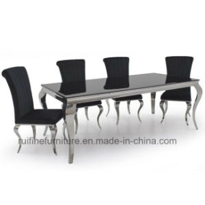 Super Modern Simple Cheap Europe French Stainless Steel Chrome Louis Chairs Dining Table Set Camellatalisay Diy Chair Ideas Camellatalisaycom