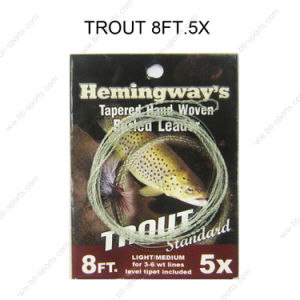 FURLED LEADER   CARP  Fly Fishing Furled Thread With Loop 2 Loop 6# to 9#  .
