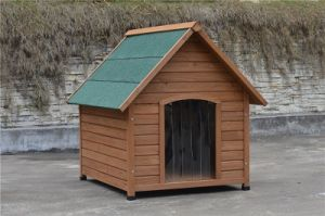 China Triangle Roof Flat Pack Wooden Dog House Kennel China Flat