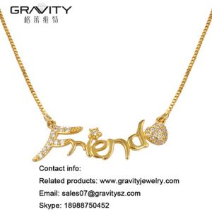China 2018 Fashion Jewelry Custom 18K Gold Plated Name Necklace with ... 13e1c1c1c