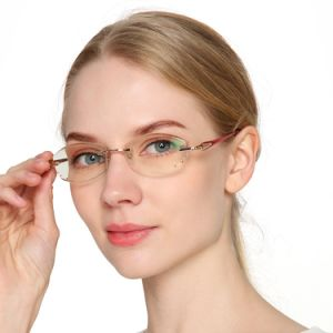 Glasses for Reader Frameless Anti-Blue Light Reading Glasses for Women