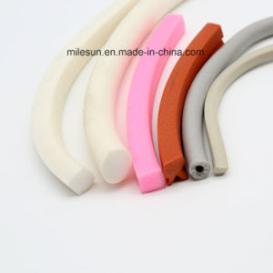Rubber Parts Extruded Foamed Rubber Silicone Foamed Flexible Extrusion Colorful Seal Strip