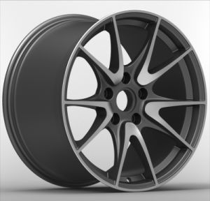 Car Alloy Wheel with Gunmetal Machine Face(P06) pictures & photos