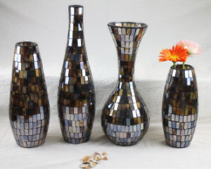 Wedding Gift Decorative Glass Crafts Mosaic Centerpiece Glass Vase