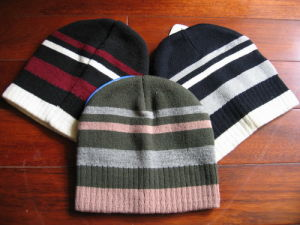Striped Beanie Hat (KN-035)