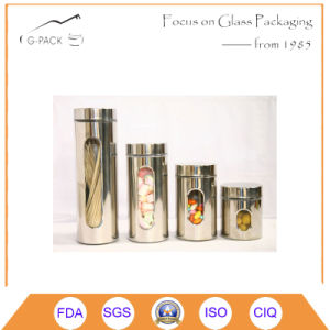 Stainess Steel Canister Set 4 Pieces with Show Window pictures & photos