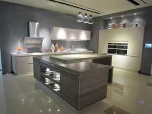 Kitchen Furniture Melamine Kitchen Cabinet with PVC Cabinet Door (zc-063) pictures & photos