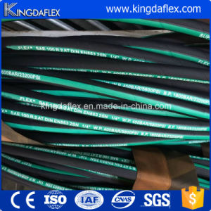 SAE 100 R1at Steel Wire Braided Rubber Hydraulic Hose with Couplings pictures & photos