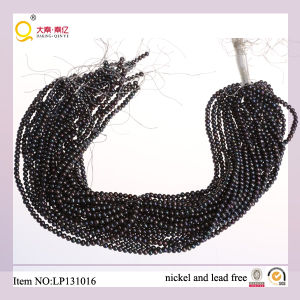 4-5mm Black Potato Shape Pearl String Cultured Lose Freshwater Pearl Strand pictures & photos