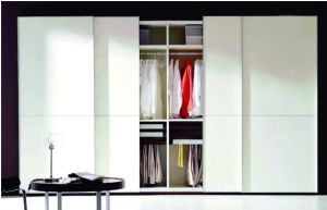 White Lacquered Sliding Door Wardrobes Bf6 pictures & photos