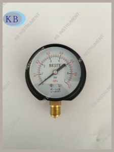"2.5"" Dry Pressure Gauge Bottom with Back Flange pictures & photos"