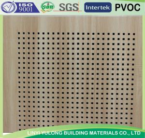 Acoustic /Sound Absorb/Perforated PVC Gypsum Ceiling Tiles (595X595mm/600X600mm/603X603mm) pictures & photos