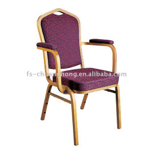 Golden Armrest Dining Chair Design (YC-D102) pictures & photos