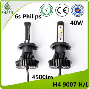 Philips H4 H/L Car LED Headlight Wholesale 4500lm 6s pictures & photos