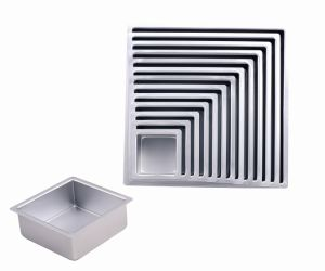 2018 Bakeware Square Deep Cake Molds Sliver Anodized pictures & photos