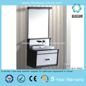 Good Quailty Black and White PVC Bathroom Cabinet (BLS-16022) pictures & photos