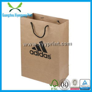 Custom Printed Hand Shopping Brown Kraft Paper Bag pictures & photos