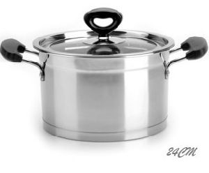 Stainless Steel Us Style Stock Pot with 3or 5 Ply Bottom