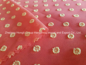 High Quality Polyester Cationic Clipping Chiffon Fabric pictures & photos