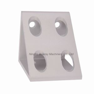Aluminum Alloy Extruded Corner Bracket Gusset with 8 Holes pictures & photos