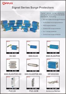 RJ45 Lightning Arrester Multi Channels Cat5/5e/6 Network Surge Protective Device pictures & photos