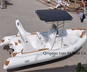 Liya 5.8meter Panga Boat with Fiberglass Hull FRP Boat Builder pictures & photos