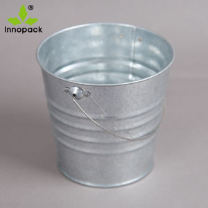 Mini Single Custom Metal Pail Ice Cooler with Metal Handle for Beer pictures & photos