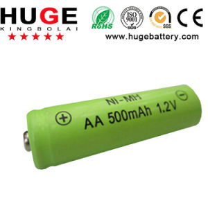 1.2V AA 500mAh Ni-MH Rechargeable Battery (AA) pictures & photos