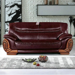 Factory Wholesale Price Hotel Lobby Furniture Leather Sofa (2109)