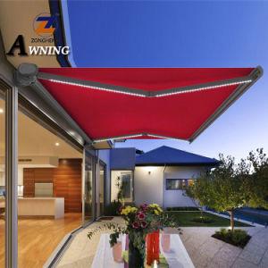 Full Cassette Balcony Motorized Roof Waterproof Outdoor Sun Shade Rain  Electric Aluminum Window Terrace Retractable Awning