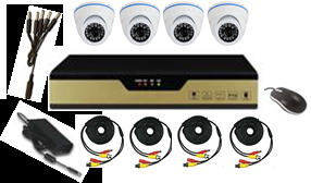 4CH CCTV Camera Kit with 4 Dome Camera pictures & photos
