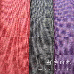 Imitation Slub Linen Fabric Polyester Yarn with Brushed Backing pictures & photos