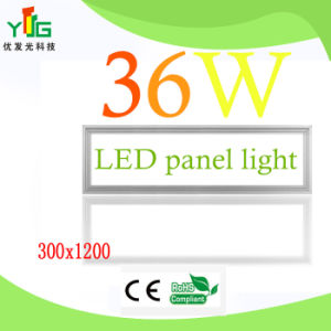 CE RoHS FCC UL SAA Approved 36W LED Panel Light 1X4ft
