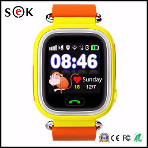 2017 Hot Kids Bluetooth Watch Mobile Phone IPS Touch Screen GPS Tracker Smart Watch Q90 for Children pictures & photos