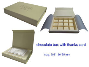 Chocolate Packing Paper Box, Paper Gift Boxes for Chocolate pictures & photos