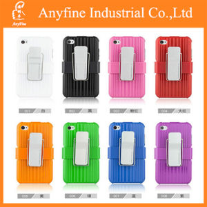 PC Silicone Cover Belt Clip Case for iPhone6