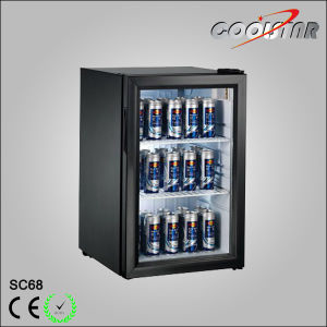 Single Glass Door Can Storage Refrigerator Displayer (SC-68) pictures & photos