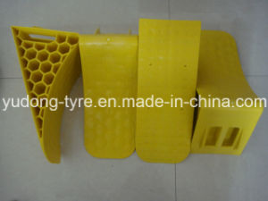 Yellow Plastic Truck Wheel Chock / Wedge pictures & photos