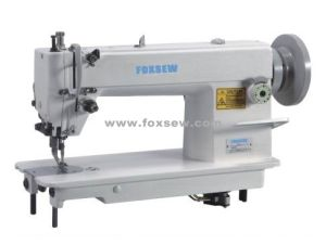 Top and Bottom Feed Lockstitch Sewing Machine for Leather Material pictures & photos