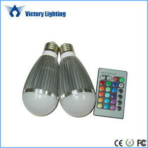 Indoor Lighting 9W RGB LED Bulb pictures & photos