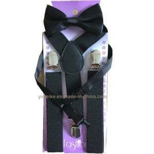 Newest Multi Colors Adjustable Kids Suspender Brace Bowties Set pictures & photos