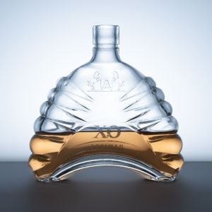 High Quality Crystal White Glass 750ml Empty Brandy Bottle