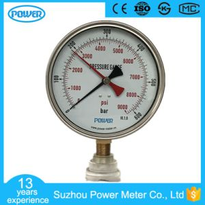150mm Stainless Steel Case Pressure Gauge with Red Pointer pictures & photos